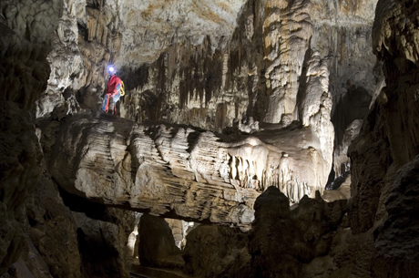 cave exploration in slovenia